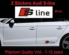 ADESIVI AUDI S-LINE STICKERS  A3 A4  TT S line  S3 S4 Fiancata