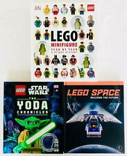 LEGO Lot 3 HC Books Lego Space Building the Future Minifigure Year by Year Yoda