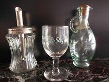 saupoudreuse vinaigrier verre de table art-déco vintage CERAMIC by PN