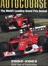 New listing Autocourse annual 2002-2003 Michael Schumacher wins for Ferrari