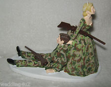 Wedding Party Reception ~Both Bride & Groom Camo Hunters~  Hunting Cake topper