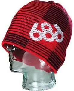 686 Shadow Red & Black Beanie One Size Fits All NEW !!