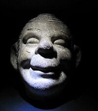 VINTAGE CHIA PET OLD AMERICAN FOLK ART ODDITY HAPPY HEAD FIGURAL SPIRITUAL MAN