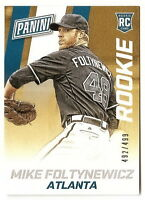 2015 PANINI NATIONAL CONVENTION MIKE FOLTYNEWICZ SP ROOKIE CARD #492/499 BRAVES