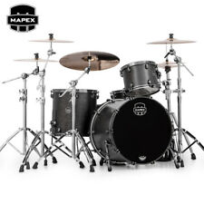 NEW Mapex SATURN V MH Exotic Rock Drum Set 3-Piece Shell Pack Satin Black Burl