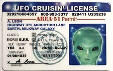 UFO Cruisin' License Novelty - Area 51 Permit - Funny UFO Space Monster Alien