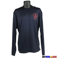 Soffe Men Size XL Navy Blue Fire Fighters Long Sleeve Shirt