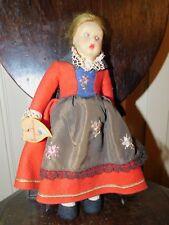 "Vintage Lenci 9 1/2"" Felt Mascotte Doll Eugadina heart tag"