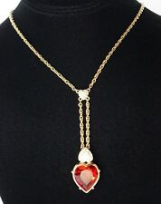 Swarovski Swan Logo Triple Heart Y Necklace ~ Signed ~ Perfect Valentine!