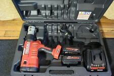Ridgid Model RP340 Propress Crimper Carrying Case Batteries & Charger   NO JAWS