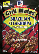 McCormick Grill Mates: Brazilian Steakhouse Marinade (Pack of 4) 1.06 oz Packets