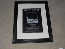 "Framed 2013 Weezer Concert Tour Mini-Poster, Australia Pinkerton 14""x17"""