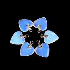 10pcs/lot 19*19mm heart shape opal stone pendant little charm pendant for DIY