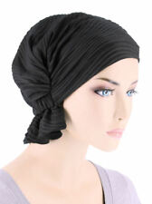Abbey Cap ® Chemo Hat Cancer Beanie Scarf Blended Knit Wave Black
