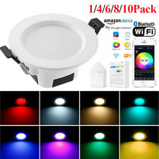 RGB LED Smart Downlight Bulb +Smart Bridge WIFI APP Control Alexa Google Home UK