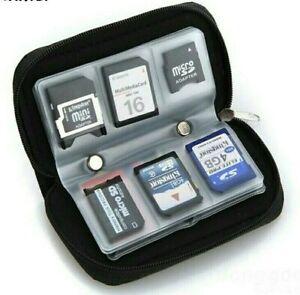 Micro SD MMC CF  Memory Card Carrying Case Bag Holder 20 Slots Black