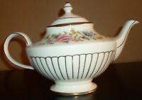 Arthur Wood Floral with Gold Trim Teapot #6070