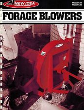 NEW IDEA 621 622 FORAGE BLOWERS  SPECIFICATIONS and SALES BROCHURE