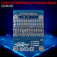13s 48v Li-ion Lithium Cell 20a 18650 Battery Protection BMS PCB Board W Balance