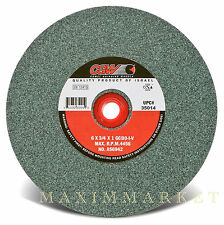 "CGW 6""x3/4""x1"" Green Silicon Carbide Grinding Wheel, Chice of Grit 60, 80, 100"