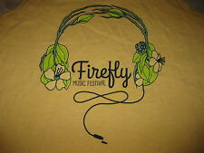 Firefly Music Festival Tank-Top - Yellow Vintage - Alternative Apparel - NEW XL