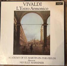 ARGO Vivaldi L'Estro Armonico Martin-in-the-Fields Marriner 2LP MINT BOX EX