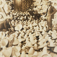 Flood of Sombreros Hat Store Mexico City Photo Stereoscope Card Stereoview F6