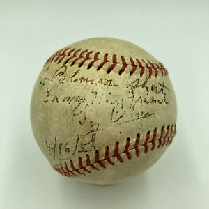 Ty Cobb Single Signed Autographed Baseball With JSA COA