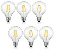 6x Edison G25 Led Bulb Globe Light Dimmable 4W (40W Equivalent) 2700k Warm White