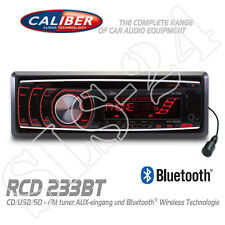 Caliber RCD233BT Autoradio Bluetooth TUNER Radio CD USB SD AUX-IN AM/FM MP3 Rot