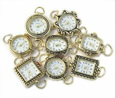 Mix Geneva Elite Watch Faces for Beading (5 PCs), Loops Battery Included (Gold)