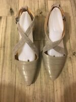 Naturalizer Womens Suede Gray  Ankle Strap Sandals Size 10 W