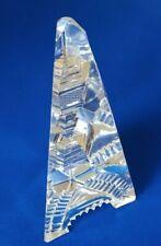 CUT GLASS OBELISK. A VERY ATTRACTIVE PIECE,