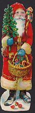 # GLANZBILDER #  altes Lebkuchenbild, Weihnachtsmann ca. 1940, 12 cm , RAR