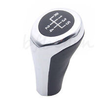 MANUAL BLACK & SILVER 5 SPEED GEAR KNOB SHIFT FOR BMW E30 E32 E36 E46 E39 E34 Z3