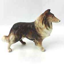 Vintage Standing Tri Color Collie Figure Japan Figurine Statue Marked Name+ Year