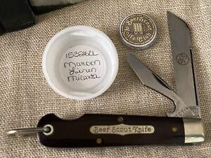 Great Eastern Cutlery GEC 15 Beer Scout Knife Maroon Linen Micarta 153216CL
