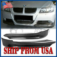 US Carbon Fiber Front Splitter Lip Spoiler Bumper For 06-08 BMW E90 E91 325i FM