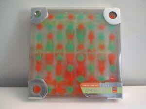 Karim Rashid Designer Chess Set Bozart 2001 Green/orange By Bozart w/Box #10046