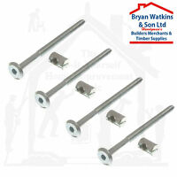 4x m6 x 60mm or 100mm long bed bolts with barrel nuts, cot, cot furniture BZP