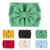 Kids Baby Girls Toddler Bow Hair band Headband Turban Knot Head Wrap Accessory