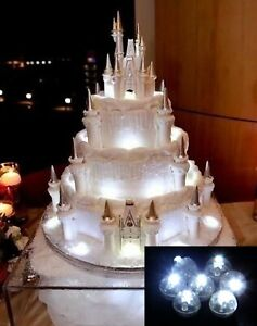 5x Birthday Cake Decoration Topper Lights for Fairy Princess Castles - Various