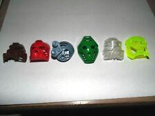 Bionicle 6 Colors Mask Pohatu,Tahu,Gray Kopaka,Green Onua,Clear Gali,Clear Lewa