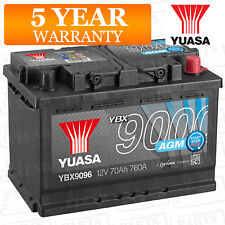 Car Battery YBX9096 AGM Stop Start Plus 12V 760CCA 70Ah T1 Terminal by Yuasa