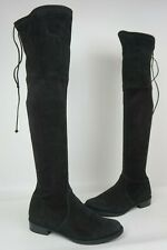 Stuart Weitzman Lowland Over the Knee Suede Boots Black Size 7 M..