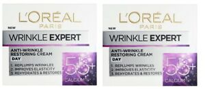 2 x L'Oreal Expert Anti-Wrinkle Restoring Day Cream 55+ Calcium (2 x 50ml)