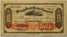 1936 British North Borneo Company $1 Banknote - average circulated condition