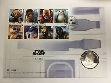 Star Wars The Last Jedi Royal Mail First Day Stamp and coin Cover R2-D2 Mint