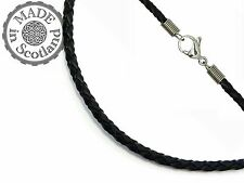 Stainless Steel Leather Chains, Necklaces & Pendants for Men