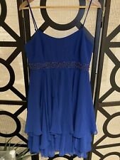 BNWT Forever New Sheena Strappy Dress Moroccan Blue Size 14